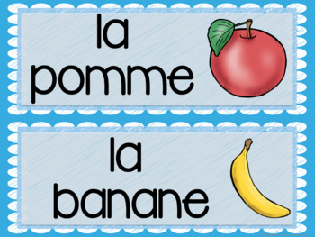 French food word wall MUR DE MOTS LA NOURRITURE