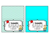 Back to school gift tag - bouncy ball - French