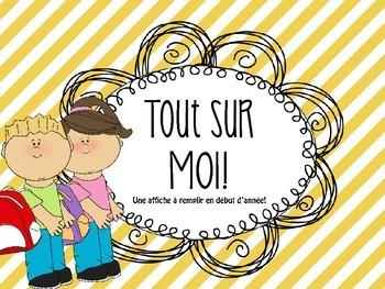 French /francais All about me poster - Affiche Tout sur moi