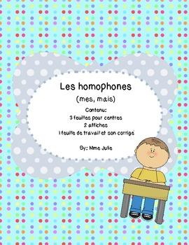 French /francais Les homophones - mais, mes