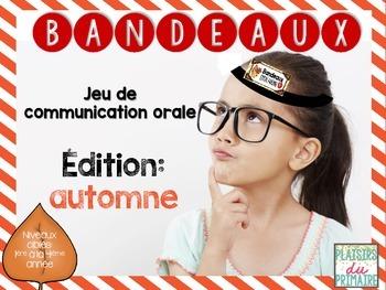 Bandeaux Oral communication game - Jeu de communication orale *FALL EDITION*