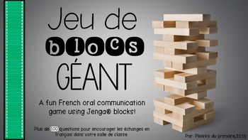 Communication orale  - Jeu de blocs - Oral communication