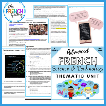 French francais science technology AUTHENTIC text questions speaking