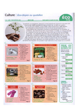 French francais authentic text environment ecology + questions