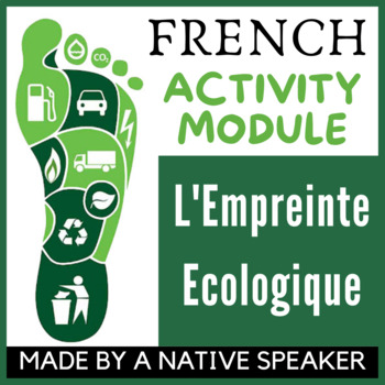 French francais authentic text + questions ecology and env