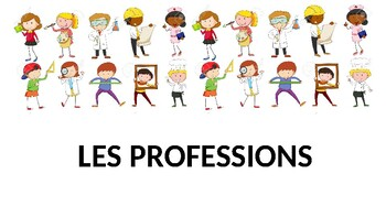 French francais presentation & Activities metiers jobs professions