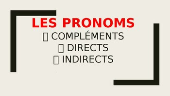 French francais pronoms complement direct indirect CLEAR l
