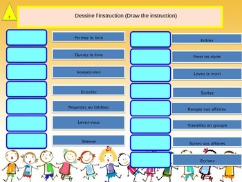 French freebie, instructions in the classroom for beginners