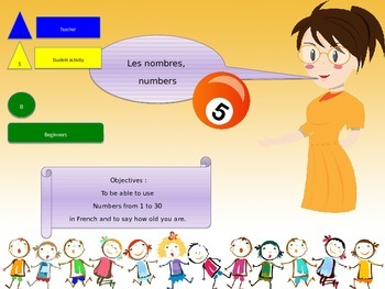 French freebie, numbers from 0 to 30 for beginners