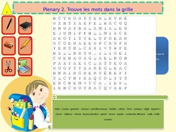 French freebie school objects for beginners
