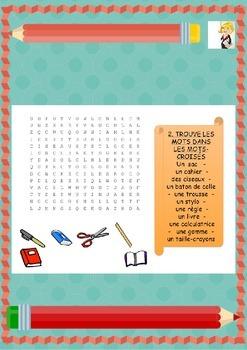 French freebie classroom objects, les objects de la class for beginners