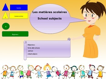 French freebie school subjects for beginners