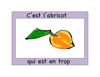 French fruit IMAGE SONG BOOK