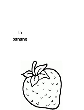 French fruits flash cards