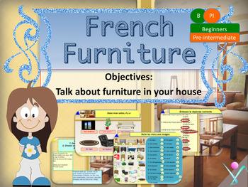 French furniture, les meubles dans la maison beginners