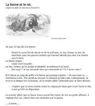 French futur antérieur - un conte - La lionne et le rat