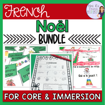 French Christmas bundle speaking and writing / Noël