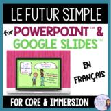 French future tense Powerpoint™️ presentation - le futur simple GOOGLE SLIDES™️