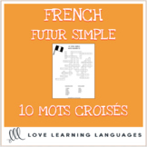 French future tense crossword puzzles - Le futur simple - Distance Learning