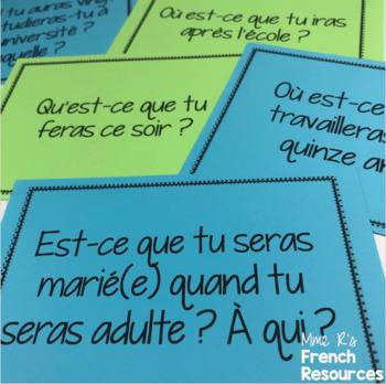 French speaking activity FUTURE TENSE LE FUTUR SIMPLE