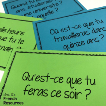 French speaking activity future tense COMMUNICATION ORALE LE FUTUR SIMPLE