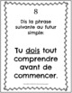 French future tense task cards - Futur Simple