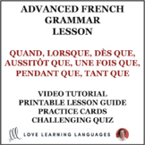 French future tenses with QUAND and other conjunctions - Lesson Plan