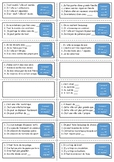French general revision flashcards - Family and Town topic
