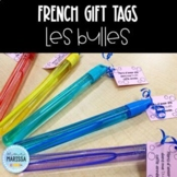 French gift tags - les bulles