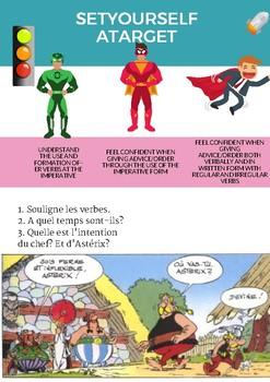 French grammar imperative, l'impératif en français booklet