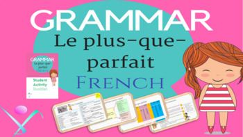 French grammar pluperfect past perfect lesson and booklet NO PREP