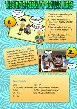 French grammar present worksheet