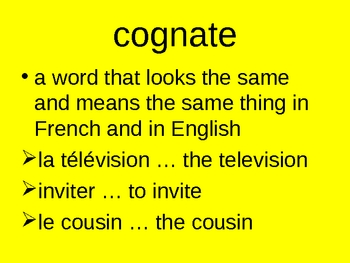 French Grammatical terms