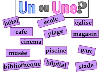 French graphic organizer - En Ville - Vocabulary