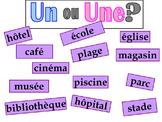 French graphic organizer - En Ville - Vocabulary