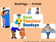 French greetings Lesson plan, PowerPoint (with audio) and Flashcards