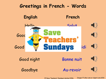 French greetings lesson plan powerpoint with audio and flashcards m4hsunfo