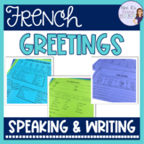 French greetings and goodbyes speaking and writing activities DISTANCE LEARNING