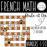 French halloween number game I roule et dis