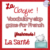 French health vocabulary slap game and flashcards LA SANTÉ