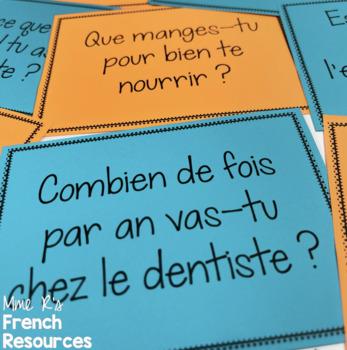 French health vocabulary speaking activity - la santé
