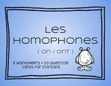 French homophones français ( on / ont )