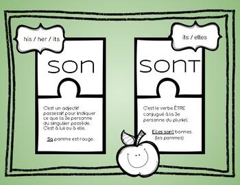 French homophones français ( son / sont )