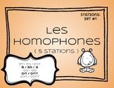 French homophones français ( stations: set #1 )