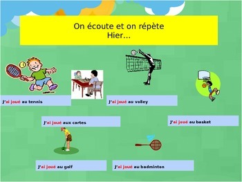 French hobbies and sports with past tense for beginners