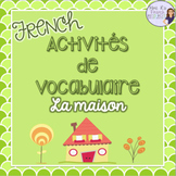 French house and furniture vocabulary activities and puzzles