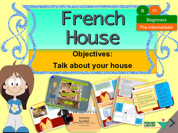 French house, ma maison full lesson for beginners