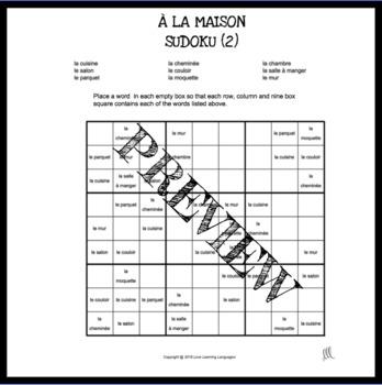 French house sudoku games - À la maison