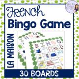 French house vocabulary bingo