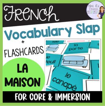 French house vocabulary game/jeu de vocabulaire- la maison